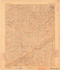 Whitesburg Kentucky Historical topographic map, 1:125000 scale, 30 X 30 Minute, Year 1890