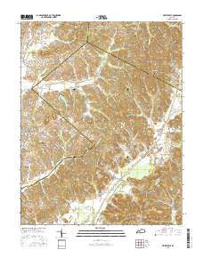 Whitesville Kentucky Current topographic map, 1:24000 scale, 7.5 X 7.5 Minute, Year 2016
