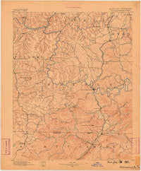 Williamsburg Kentucky Historical topographic map, 1:125000 scale, 30 X 30 Minute, Year 1890