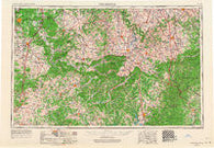 Winchester Kentucky Historical topographic map, 1:250000 scale, 1 X 2 Degree, Year 1957