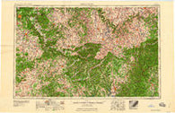 Winchester Kentucky Historical topographic map, 1:250000 scale, 1 X 2 Degree, Year 1960