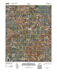 Woodburn Kentucky Historical topographic map, 1:24000 scale, 7.5 X 7.5 Minute, Year 2010