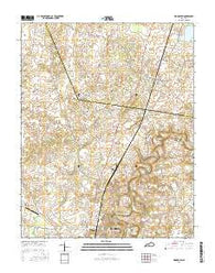 Woodburn Kentucky Current topographic map, 1:24000 scale, 7.5 X 7.5 Minute, Year 2016