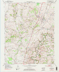 Woodburn Kentucky Historical topographic map, 1:24000 scale, 7.5 X 7.5 Minute, Year 1979