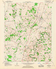 Woodburn Kentucky Historical topographic map, 1:24000 scale, 7.5 X 7.5 Minute, Year 1951