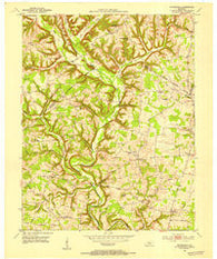 Woodstock Kentucky Historical topographic map, 1:24000 scale, 7.5 X 7.5 Minute, Year 1952