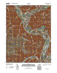Worthville Kentucky Historical topographic map, 1:24000 scale, 7.5 X 7.5 Minute, Year 2010