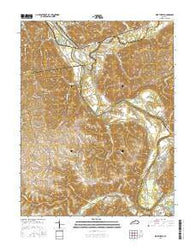 Worthville Kentucky Current topographic map, 1:24000 scale, 7.5 X 7.5 Minute, Year 2016