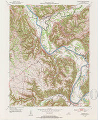Worthville Kentucky Historical topographic map, 1:24000 scale, 7.5 X 7.5 Minute, Year 1952