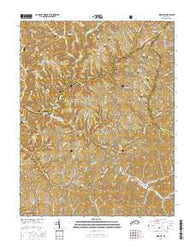 Wrigley Kentucky Current topographic map, 1:24000 scale, 7.5 X 7.5 Minute, Year 2016