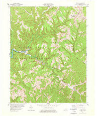 Wrigley Kentucky Historical topographic map, 1:24000 scale, 7.5 X 7.5 Minute, Year 1977