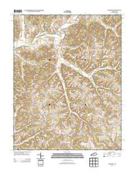 Yosemite Kentucky Historical topographic map, 1:24000 scale, 7.5 X 7.5 Minute, Year 2013
