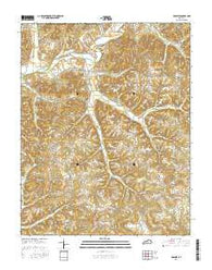 Yosemite Kentucky Current topographic map, 1:24000 scale, 7.5 X 7.5 Minute, Year 2016