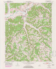 Yosemite Kentucky Historical topographic map, 1:24000 scale, 7.5 X 7.5 Minute, Year 1952
