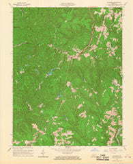 Zachariah Kentucky Historical topographic map, 1:24000 scale, 7.5 X 7.5 Minute, Year 1966