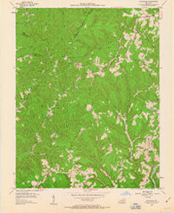 Zachariah Kentucky Historical topographic map, 1:24000 scale, 7.5 X 7.5 Minute, Year 1953