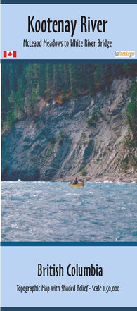 Kootenay River Map synthetic xtra| Canoe Routes