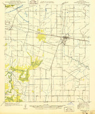 Abbeville NE Louisiana Historical topographic map, 1:31680 scale, 7.5 X 7.5 Minute, Year 1932