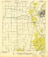 Abbeville NW Louisiana Historical topographic map, 1:31680 scale, 7.5 X 7.5 Minute, Year 1932