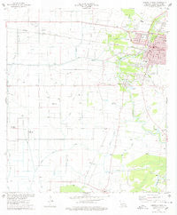 Abbeville West Louisiana Historical topographic map, 1:24000 scale, 7.5 X 7.5 Minute, Year 1975