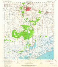 Abbeville Louisiana Historical topographic map, 1:62500 scale, 15 X 15 Minute, Year 1954