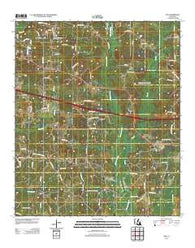 Ada Louisiana Historical topographic map, 1:24000 scale, 7.5 X 7.5 Minute, Year 2012