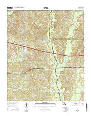 Ada Louisiana Current topographic map, 1:24000 scale, 7.5 X 7.5 Minute, Year 2015 from Louisiana Maps Store