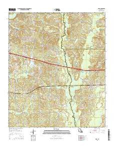 Ada Louisiana Current topographic map, 1:24000 scale, 7.5 X 7.5 Minute, Year 2015