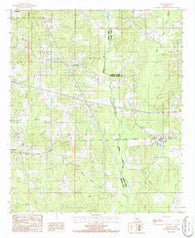 Ada Louisiana Historical topographic map, 1:24000 scale, 7.5 X 7.5 Minute, Year 1986