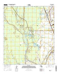Addis Louisiana Current topographic map, 1:24000 scale, 7.5 X 7.5 Minute, Year 2015
