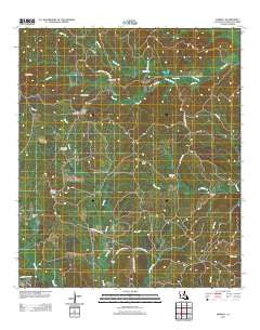 Aimwell Louisiana Historical topographic map, 1:24000 scale, 7.5 X 7.5 Minute, Year 2012