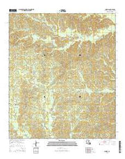 Aimwell Louisiana Current topographic map, 1:24000 scale, 7.5 X 7.5 Minute, Year 2015 from Louisiana Maps Store