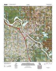 Alexandria Louisiana Historical topographic map, 1:24000 scale, 7.5 X 7.5 Minute, Year 2012