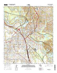 Alexandria Louisiana Current topographic map, 1:24000 scale, 7.5 X 7.5 Minute, Year 2015