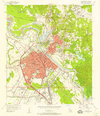 Alexandria Louisiana Historical topographic map, 1:24000 scale, 7.5 X 7.5 Minute, Year 1957