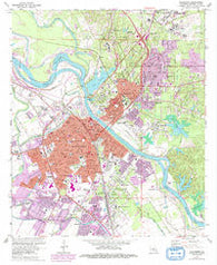 Alexandria Louisiana Historical topographic map, 1:24000 scale, 7.5 X 7.5 Minute, Year 1972
