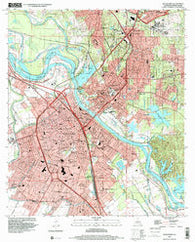 Alexandria Louisiana Historical topographic map, 1:24000 scale, 7.5 X 7.5 Minute, Year 1998