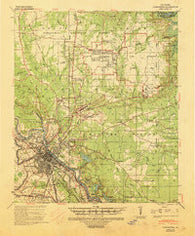 Alexandria Louisiana Historical topographic map, 1:62500 scale, 15 X 15 Minute, Year 1941