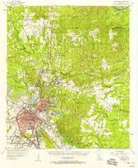Alexandria Louisiana Historical topographic map, 1:62500 scale, 15 X 15 Minute, Year 1957