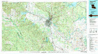 Alexandria Louisiana Historical topographic map, 1:100000 scale, 30 X 60 Minute, Year 1986