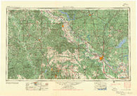 Alexandria Louisiana Historical topographic map, 1:250000 scale, 1 X 2 Degree, Year 1955