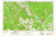 Alexandria Louisiana Historical topographic map, 1:250000 scale, 1 X 2 Degree, Year 1953