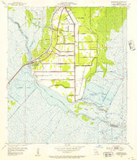 Allemands Louisiana Historical topographic map, 1:24000 scale, 7.5 X 7.5 Minute, Year 1952