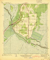 Allemands Louisiana Historical topographic map, 1:31680 scale, 7.5 X 7.5 Minute, Year 1940