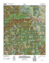 Allen Louisiana Historical topographic map, 1:24000 scale, 7.5 X 7.5 Minute, Year 2012