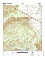 Allen Louisiana Current topographic map, 1:24000 scale, 7.5 X 7.5 Minute, Year 2015