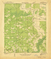 Allen Louisiana Historical topographic map, 1:31680 scale, 7.5 X 7.5 Minute, Year 1938