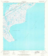 Alligator Point Louisiana Historical topographic map, 1:24000 scale, 7.5 X 7.5 Minute, Year 1956
