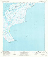 Alligator Point Louisiana Historical topographic map, 1:24000 scale, 7.5 X 7.5 Minute, Year 1968