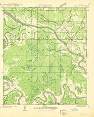 Aloha Louisiana Historical topographic map, 1:31680 scale, 7.5 X 7.5 Minute, Year 1937